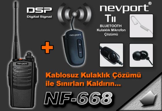 NF-668 LİSANSSIZ BLUETOOTH KULAKLIKLI TELSİZ